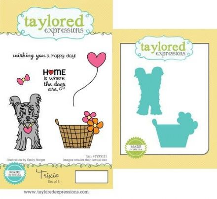 TEPS121 ~ TRIXIE- SET OF Stamps with coordinating dies by Taylored Expressions